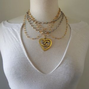CHANEL Heart CC Necklace